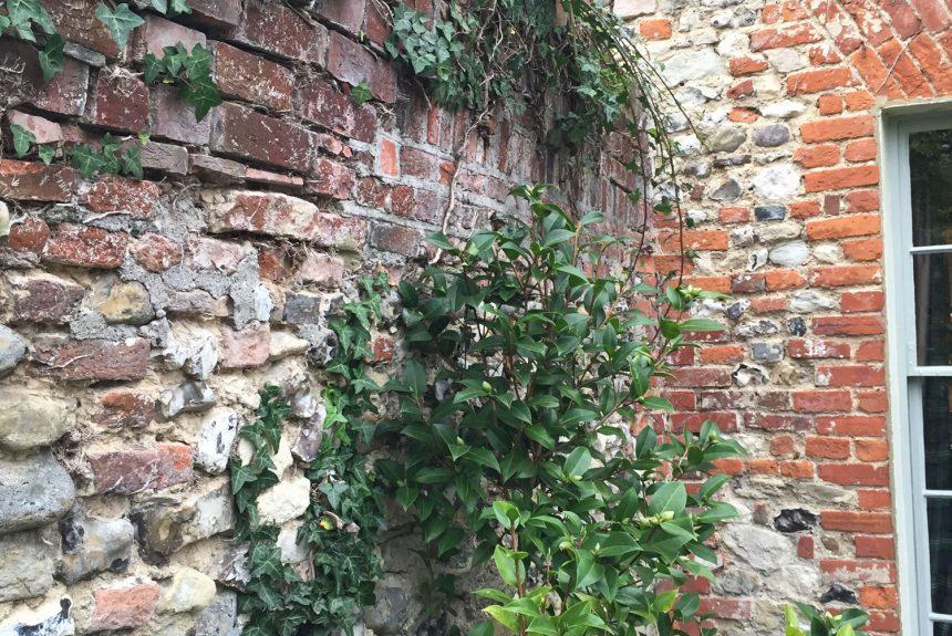 The wall before repair