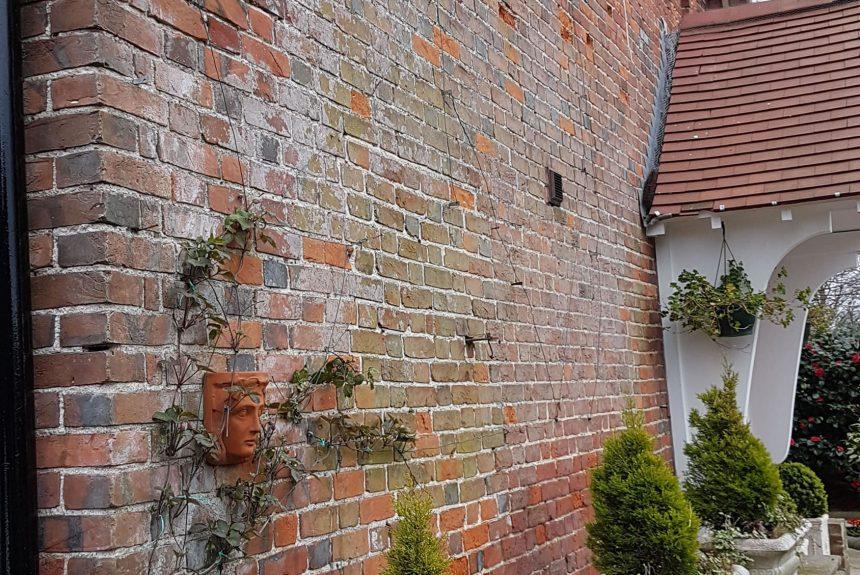 Brickwork before restoration